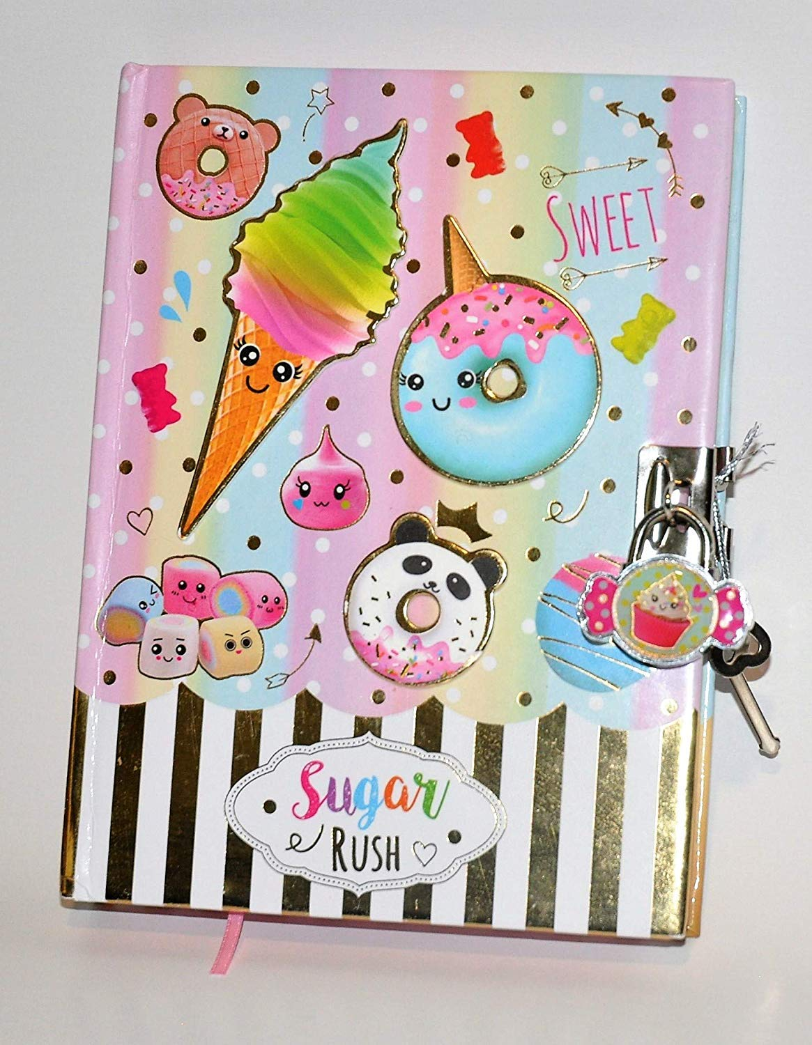 Hot Focus Sugar Rush 300 Lined Page Diary