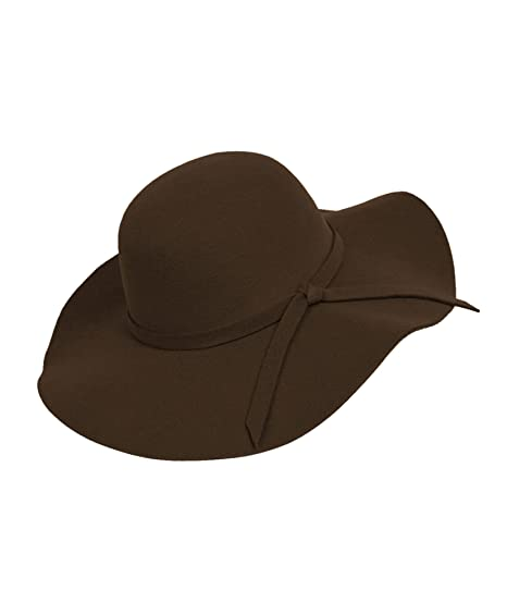 41790287df98c Bowknot Wide Brim Floppy Hat (Brown) at Amazon Women s Clothing store