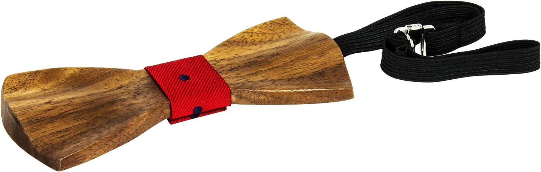 cc7sheep Holzfliege mit Verschlu/ß Etui und Einstecktuch aus hochwertigen nat/ürlichen Walnuss oder Zebra-Holz Herren Krawatte Fliege Schleife Holzfliegen Handarbeit Hochzeit
