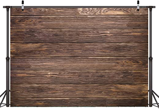 8x10ft Vinyl Wood Photography Backdrops Indoor Outdoor Brown Old Curved Retro Shabby Wooden Floor and Wall Wood Texture Grunge Background Portrait Photo Booth Studio Prop Scenario Decoration