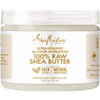 Sheamoisture for Ultra-Healing for Dry Skin 100% Raw Shea Butter for All-Over Hydration 10.5 oz