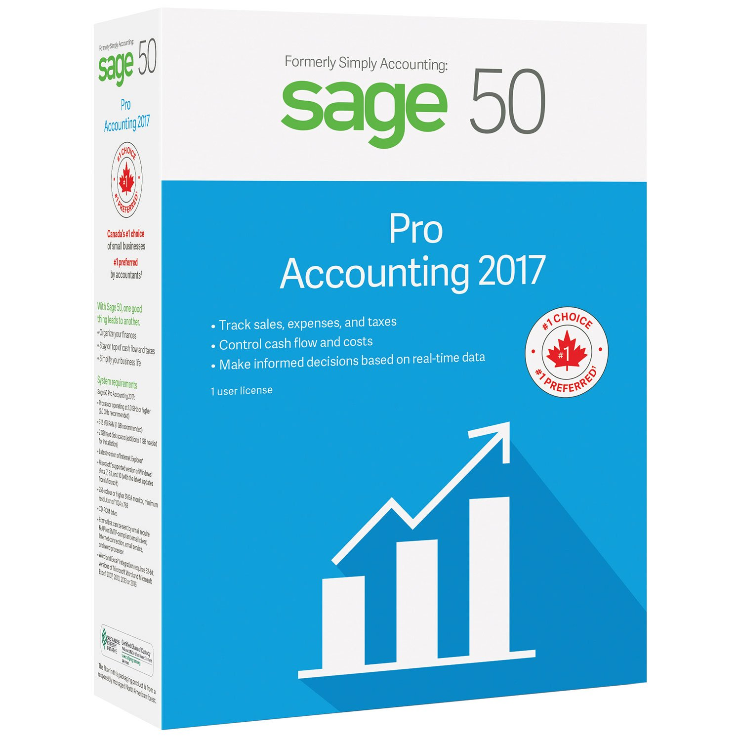 Sage 50 Pro Accounting 2017 Bilingual