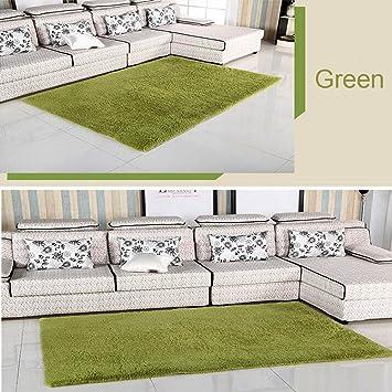 Nature Grün Teppich Rutschfest Shag Bereich Teppiche Wohn Esszimmer  Schlafzimmer Teppich (grün), Polypropylen