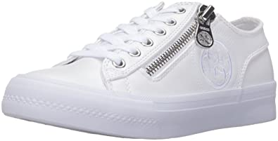 GUESS Womens Gemica Low Top Lace Up Fashion Sneakers White Size 10.0