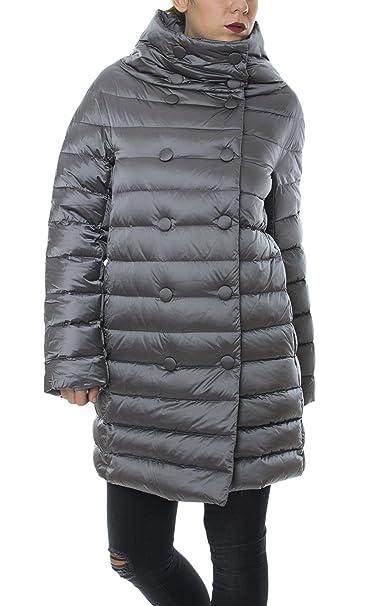 huge discount 3b6be 4ac09 Piumino cappa Trussardi Jeans donna lungo grigio 56S40 ...