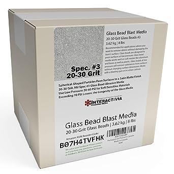 Amazon.com: 8 lb o 7.9 lbs # 3 cuentas de cristal abrasivo ...