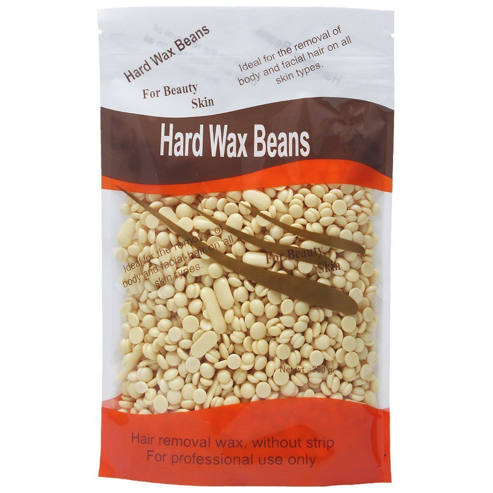 Pearl Wax for Hair Removal, Hard Wax Beans Waxing Beads, Painless Depilatory Stripless Wax Pellet for Men Women Facial Face Body Hair Removal (Honey, 300g) CLAVUZ