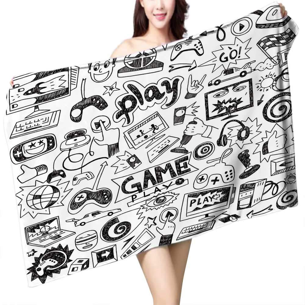 UHOO2018 Baby Bath Towel Inside The Video Game Industry Print Wrap Towels W 10'' x L 39.5''