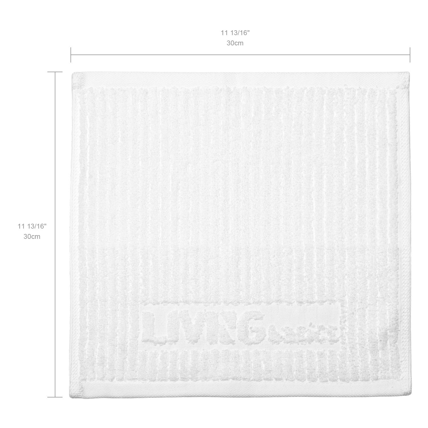 White Highly Absorbent Face Towels LIVINGbasics/™ 100/% Cotton Washcloth Extra Soft Fingertip Towels Set Machine Washable Sport and Workout Towels Pack of 24