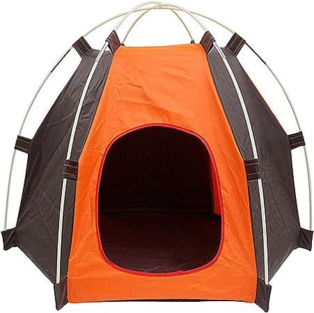 Portátil plegable Camping para mascotas perro gato tienda casa refugio prueba UV protección contra la humedad para interiores al aire libre
