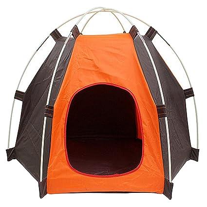 Portátil plegable Camping para mascotas perro gato tienda casa refugio prueba UV protección contra la humedad
