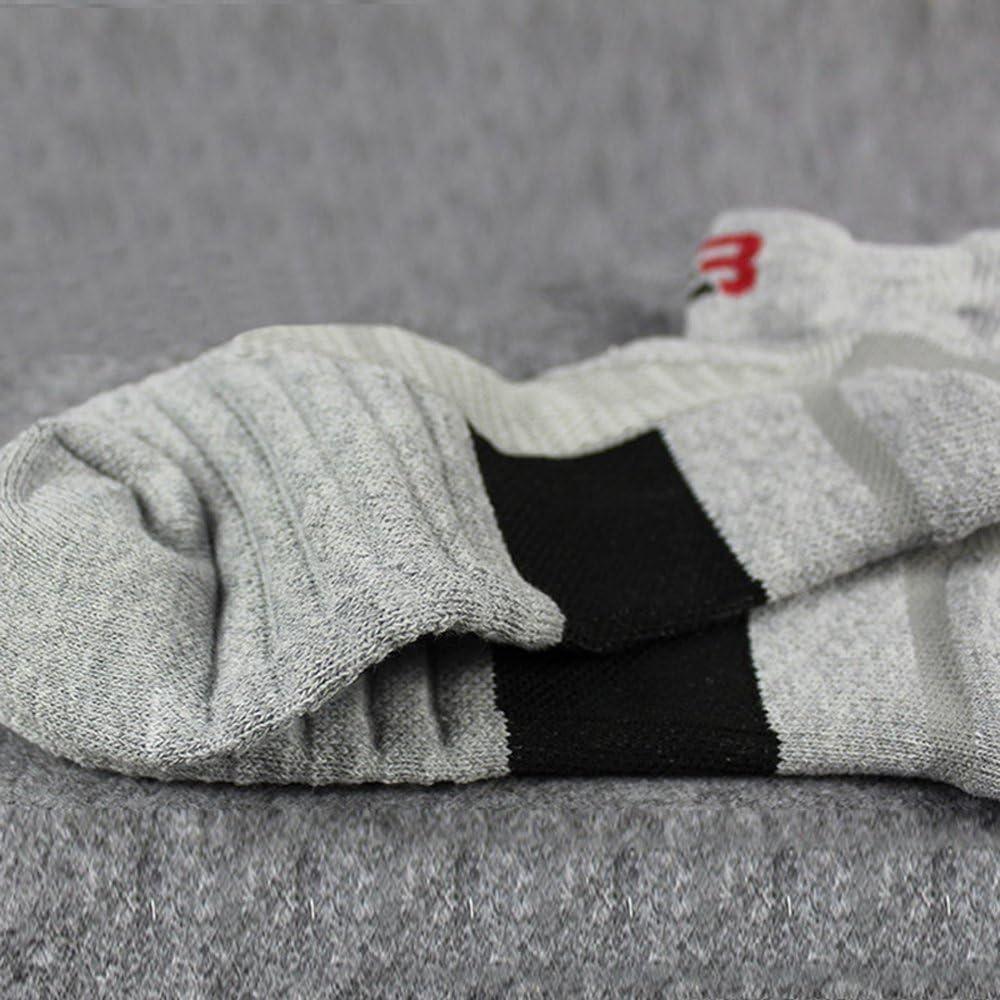 Litthing Calcetines Deportivos de Algod/ón para Hombre Calcetine Largo Transpirable El/ástico Antideslizante Deporte 100/% Algod/ón Protecci/ón de Pie Engrosado