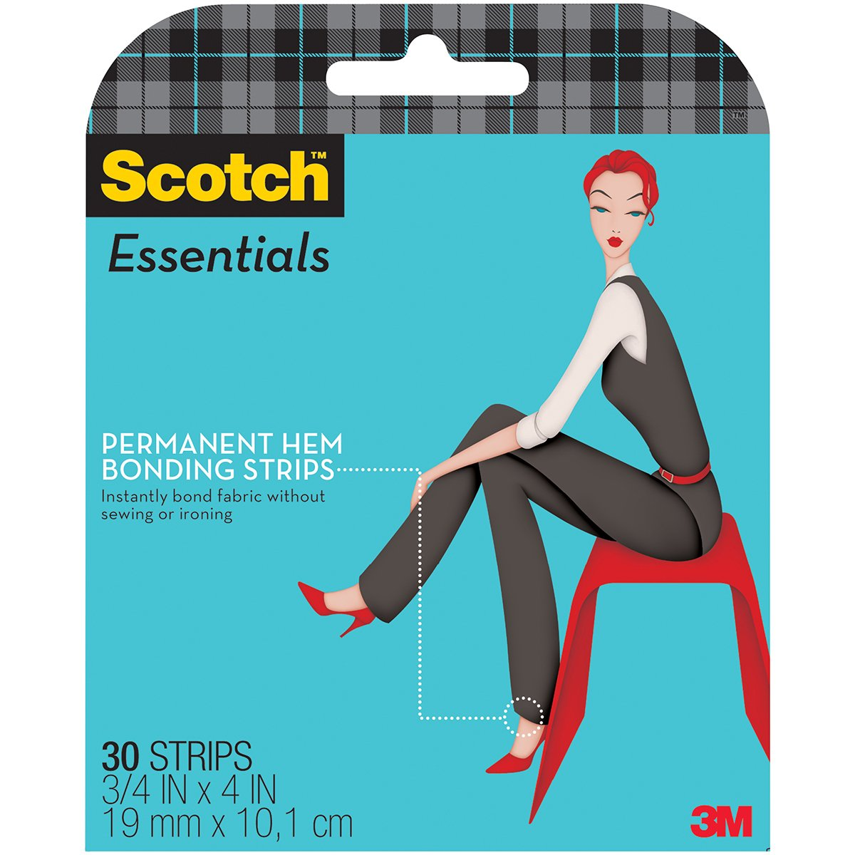Scotch 95187 Essentials Permanent Hem Bonding, 30 Strips
