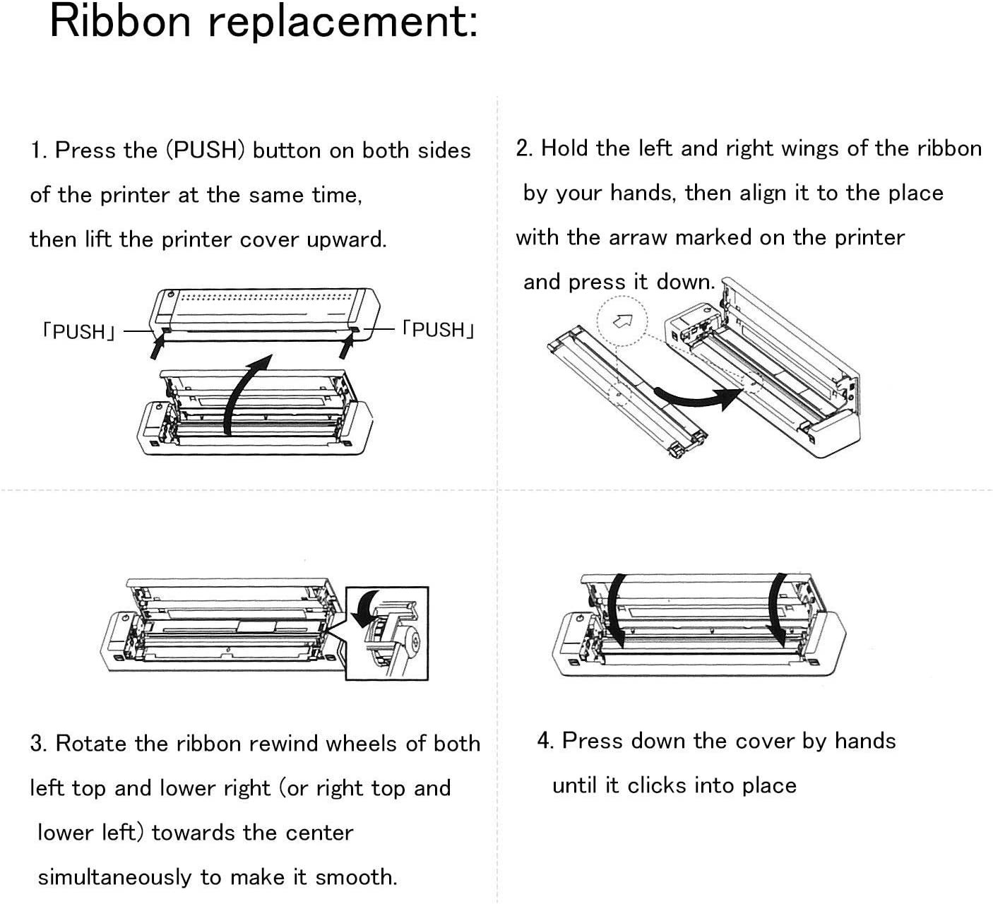 HPRT Thermal Transfer Ribbon Applied in MT800 (210mm) Portable Thermal Printer