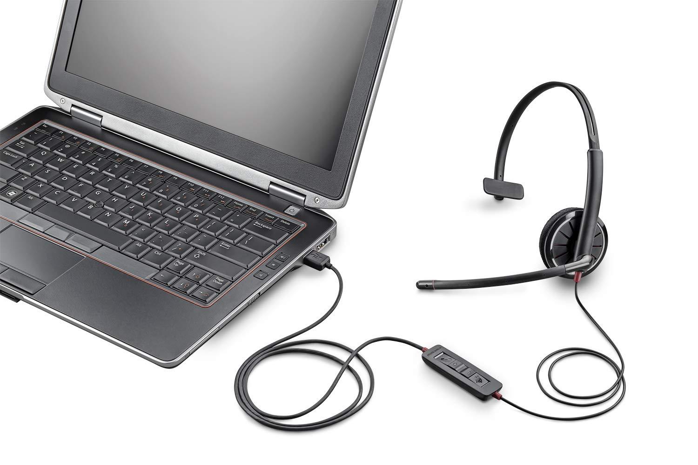 Plantronics Blackwire 325 USB Headset, On-Ear Mono Headset, Wired 204446-102