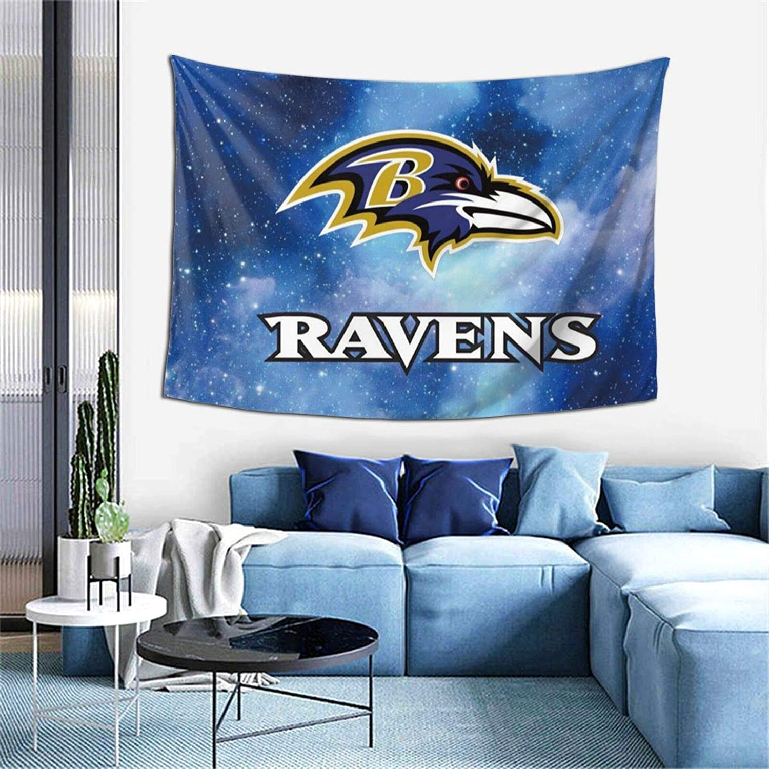 Baltimore Ravens Tapestry Wall Hanging for Living Room Bedroom Dorm Decor 59x59 inch