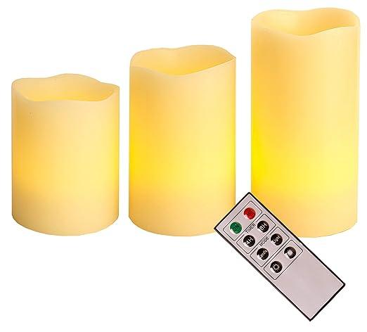 Best Season 066-70 - Juego de lámparas LED con forma de vela, 3. Pasa ...