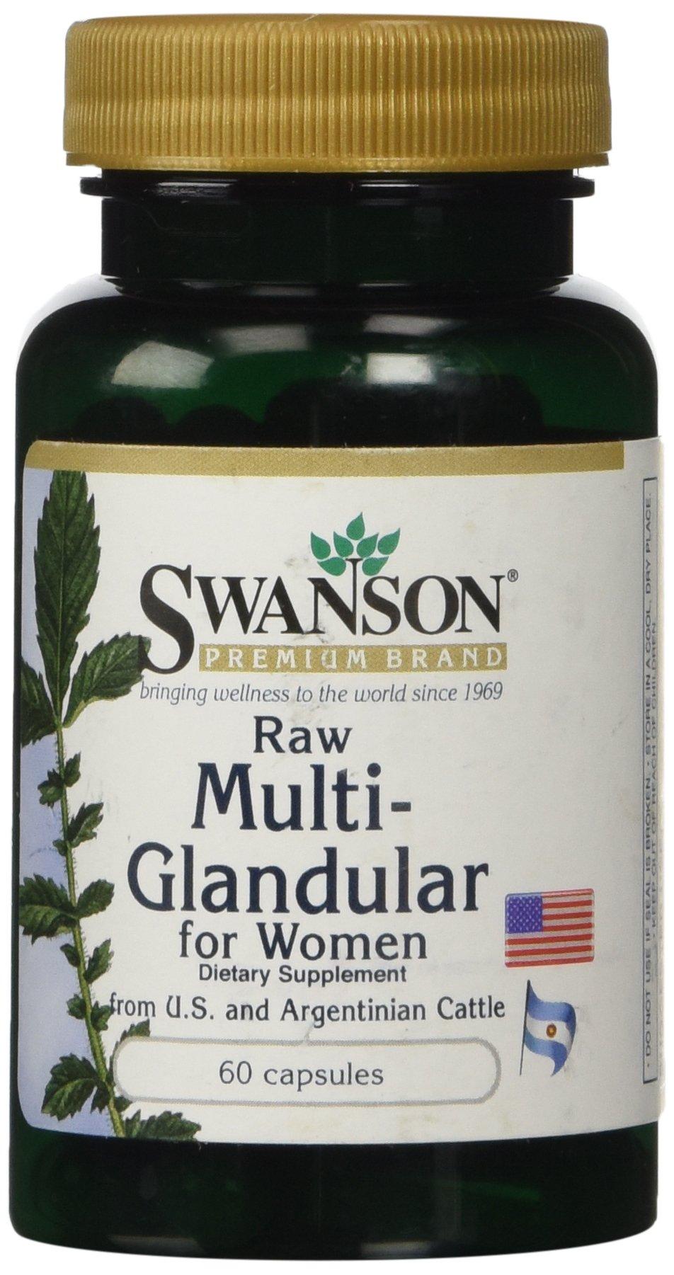 Swanson Raw Multi-Glandular For Men 60 Caps