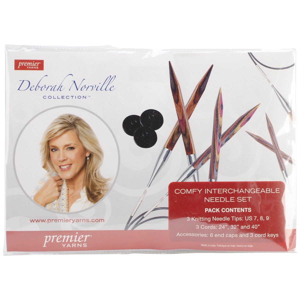 Premier Yarns DNN89-02 Deborah Norville Interchangeable Kneedle Set