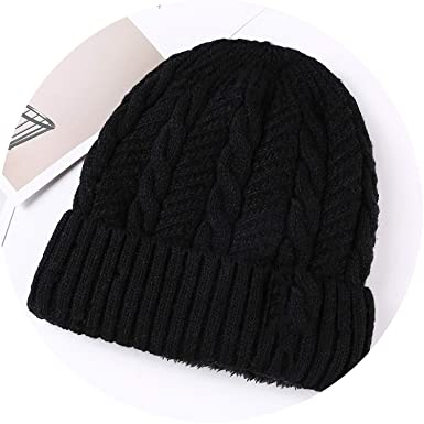 6c3eaf80a00 Lady night Woolen hat Men s Lining for Winter Cotton Knitted Hats Thick  Warm Cap Casual Beanie