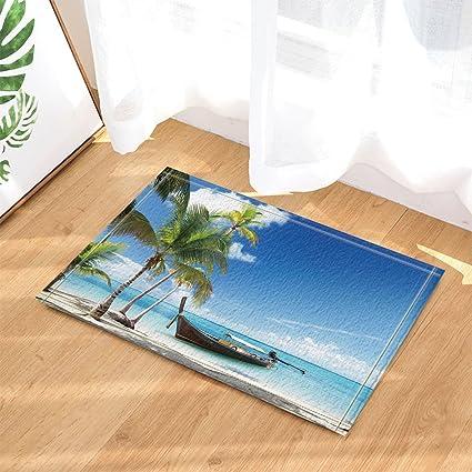amazon com nautical tropical seascape seashore decor ship on sea rh amazon com Seashore Needlepoint Rugs Beach Rugs