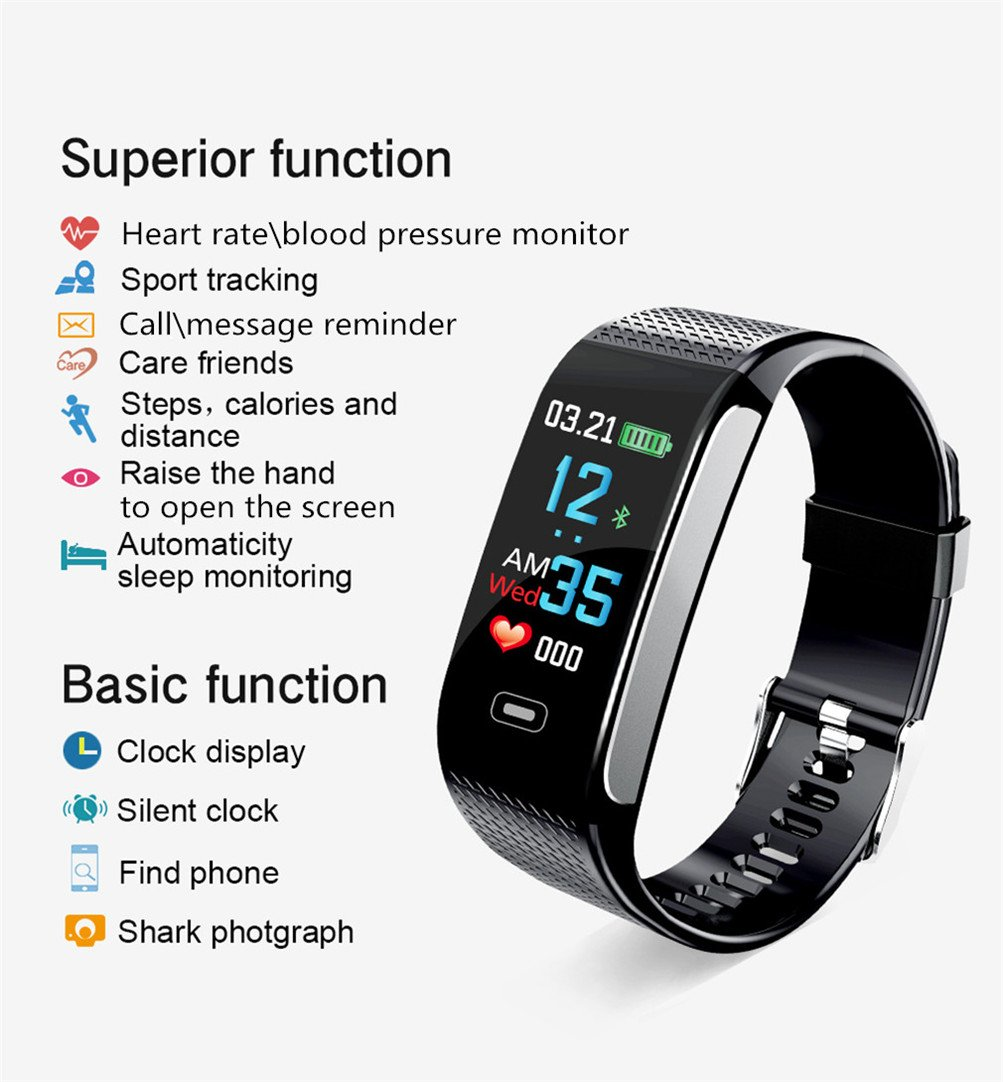 Amazon.com : Fitness Tracker HR, Color Display Activity ...
