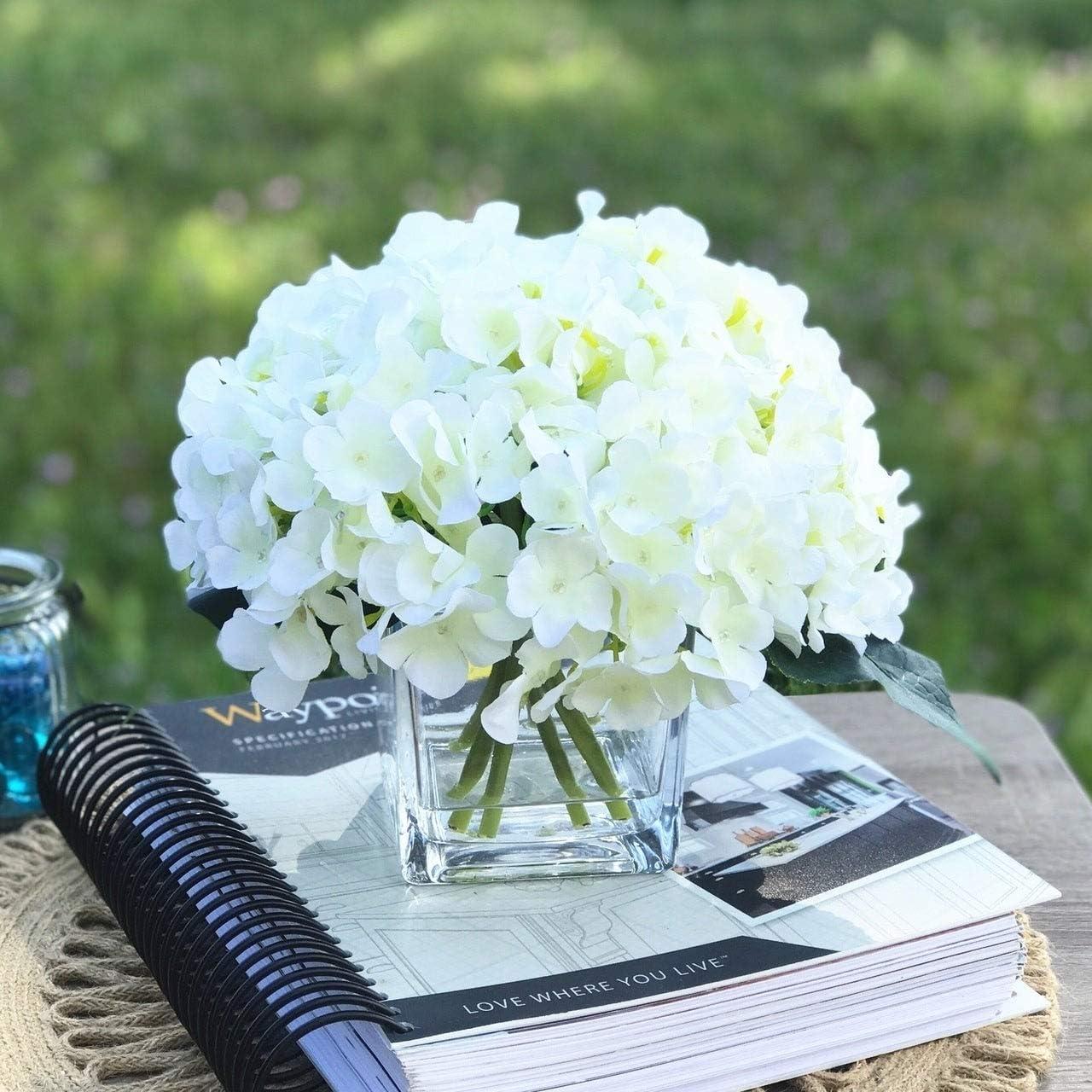Home Decor Artificial Silk Flower Arrangement Black Cream In Black Vase Lights Up Home Furniture Diy New Times Bg