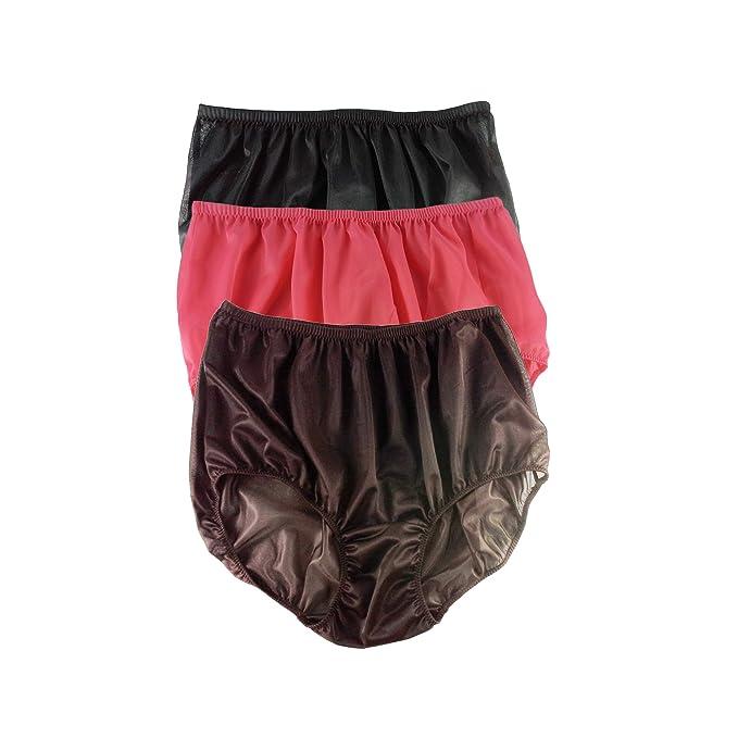 9c1dfe35397147 A27 Lots 3 pcs Full Briefs Nylon Plain New Knickers Panties Underwear  Lingerie Men Women (