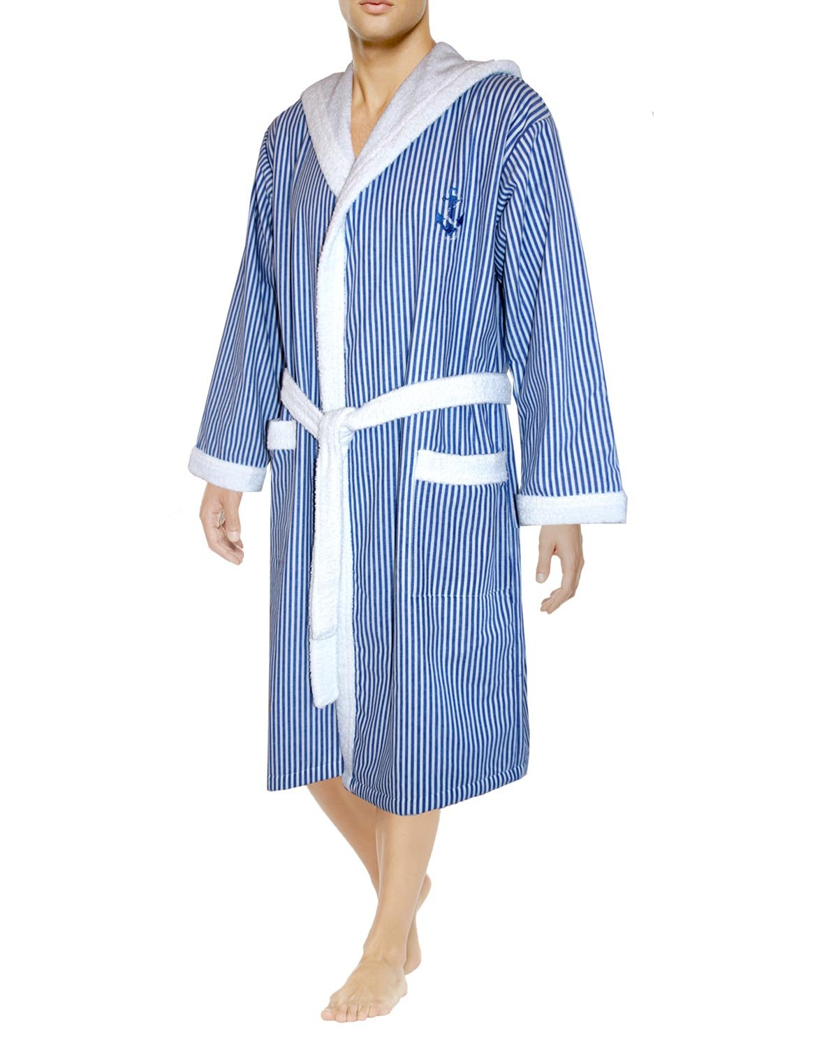 Armani International Nautical Hooded Bathrobe Large