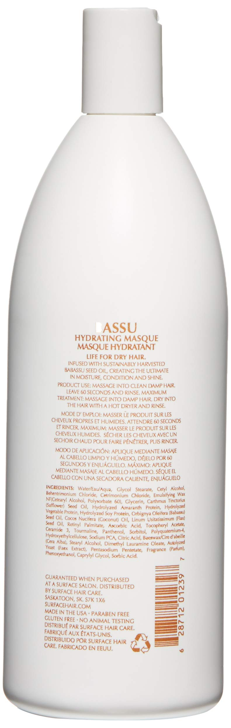 Surface Hair Bassu Moisture Masque, 33.8 Fl Oz by Surface Hair (Image #2)