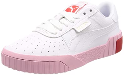 1e832fc5a Amazon.com | PUMA Cali Womens White/Pale Pink Sneakers-UK 7 ...