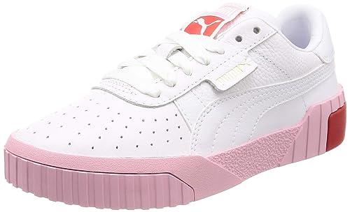 PUMA WN Cali Fashion.WH Pink Zapatillas Moda Mujeres Blanco Zapatillas Bajas