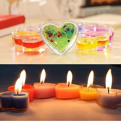 feeshow - Lote de 10 moldes para vela (materiales de plástico moldes Parfums jabones manualidades