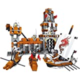 BRICK-LAND  Knights Kingdom Building Bricks Set  for Kids Ages 6+ Compatible Bricks, 555 Pieces