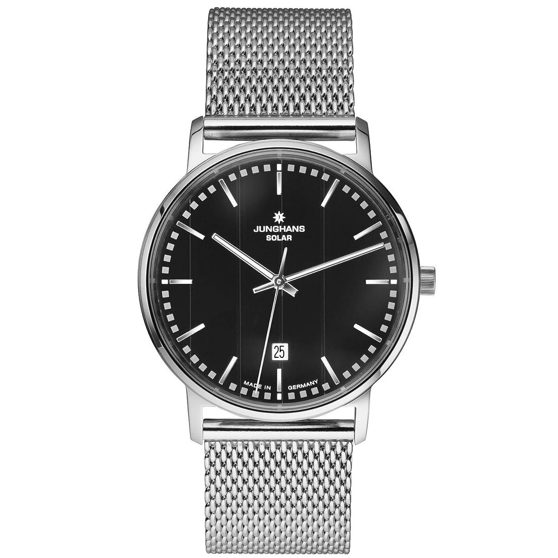Junghans Herren-Armbanduhr XL Milano Solar Analog Quarz Edelstahl 014-4061.44