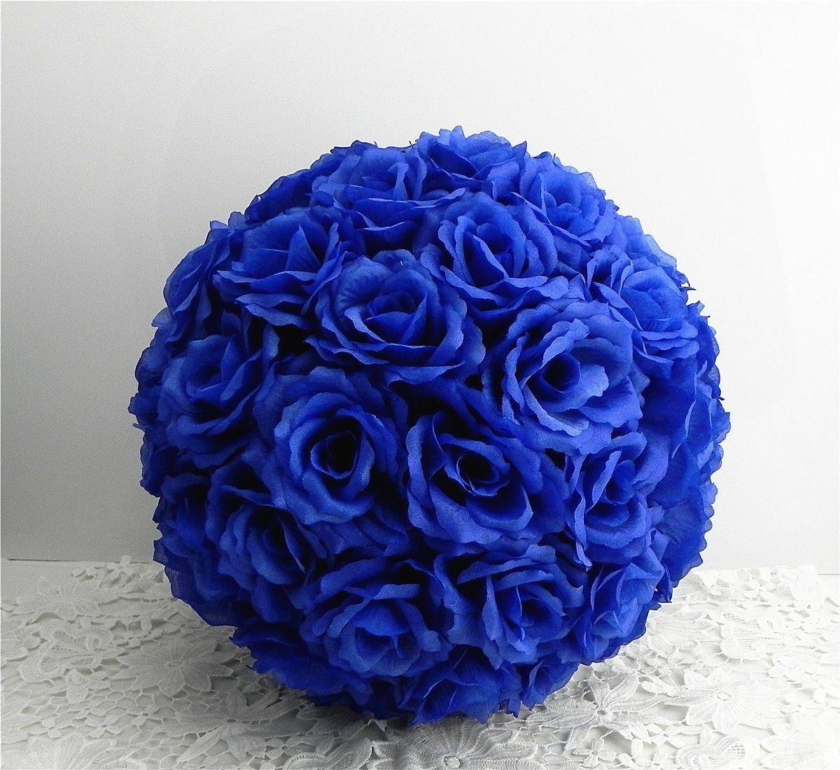 CYNDIE-Wedding-Flower-Blue-15-40cm-59-157-Silk-Rose-Pomander-Flower-Kissing-Ball-Wedding-Party
