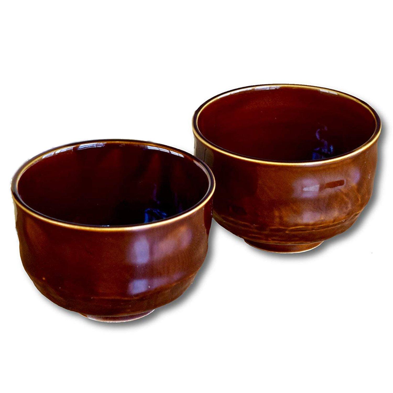 Matcha bowl (chawan) Japan, Tea bowl, cup, suitable for food as well (Brown Glaze, 2)