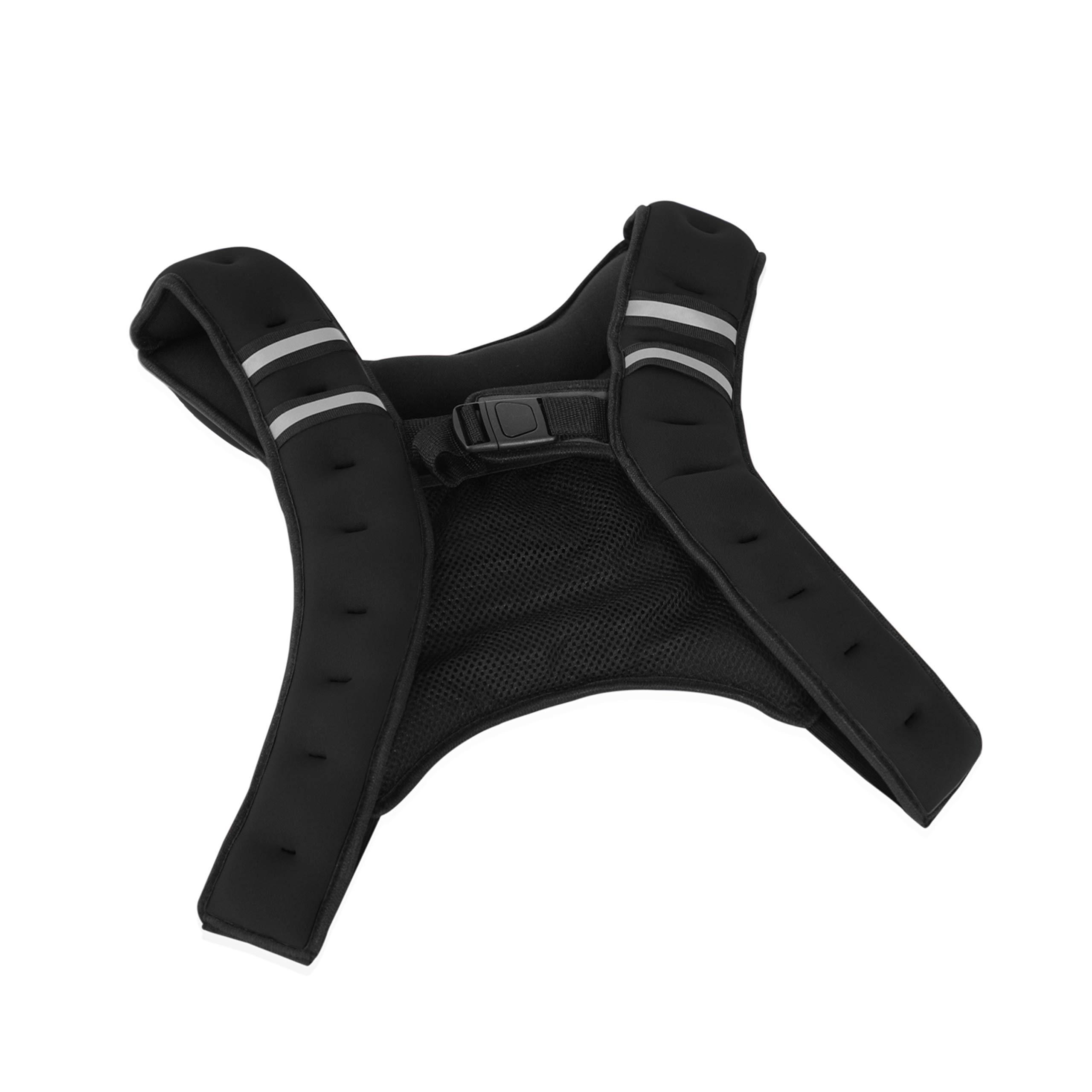 Tone Fitness HHWV-TN012B Black Weighted Vest, 12 Lbs, Black