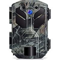 apeman Wildkamera 20MP 1080P mit Infrarot-Nachtsicht bis zu 65 Fuß/20 m IP66 Spray Wasserdicht für Outdoor-Natur, Garten, Haussicherheitsüberwachung (20MP)