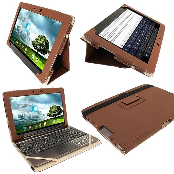 amazon com igadgitz brown portfolio pu leather case cover for rh amazon com Best Case for Asus TF700 asus tf700t user manual pdf