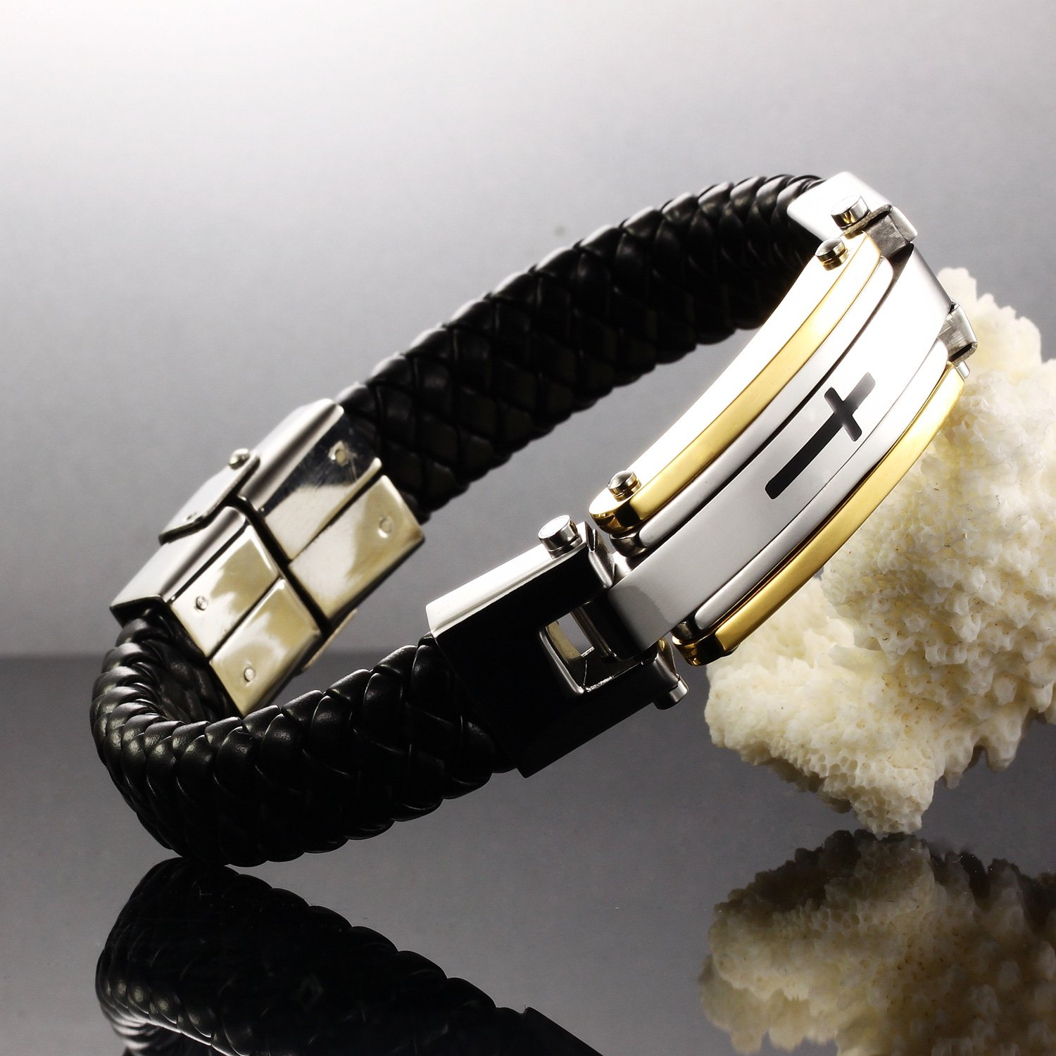 rope bangles cross gold in watch from pulseiras steel bracelet jewelry item wholesale charm men stainless bangle