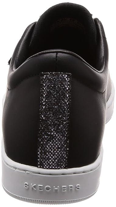 Prima-Glitter Box, Sneaker Donna, Nero (Black/Pewter), 36.5 EU Skechers