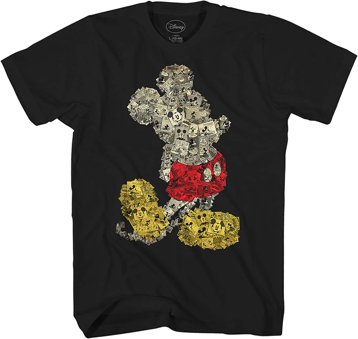 Disney Mickey Mouse Collage Disneyland World Adult Tee Graphic T-Shirt for Men Tshirt