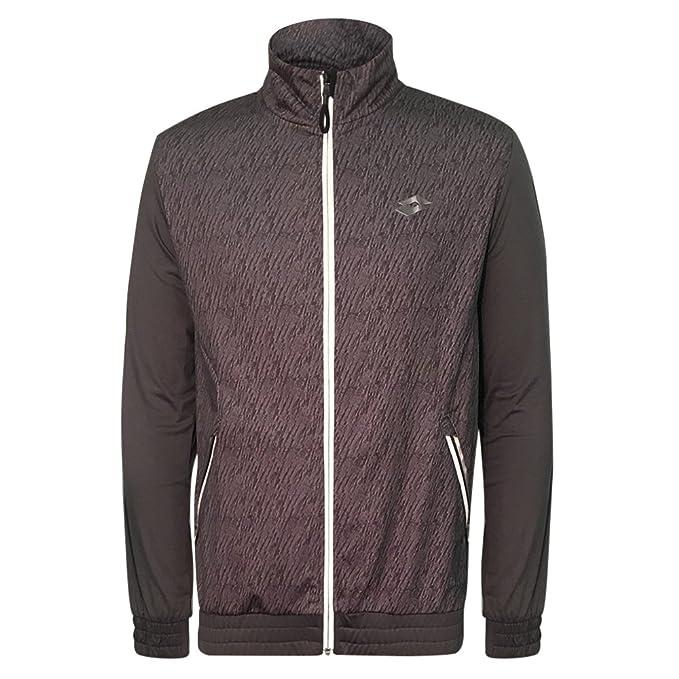 Lotto Active chaqueta - hombres sudadera con cremallera completa y embudo cuello, gris: Amazon.es: Deportes y aire libre