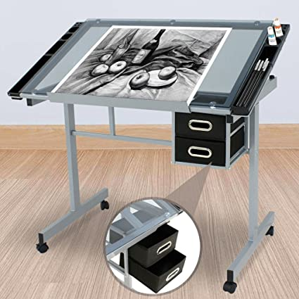 Ajustable dibujo cristal templado de escritorio mesa de dibujo Art ...