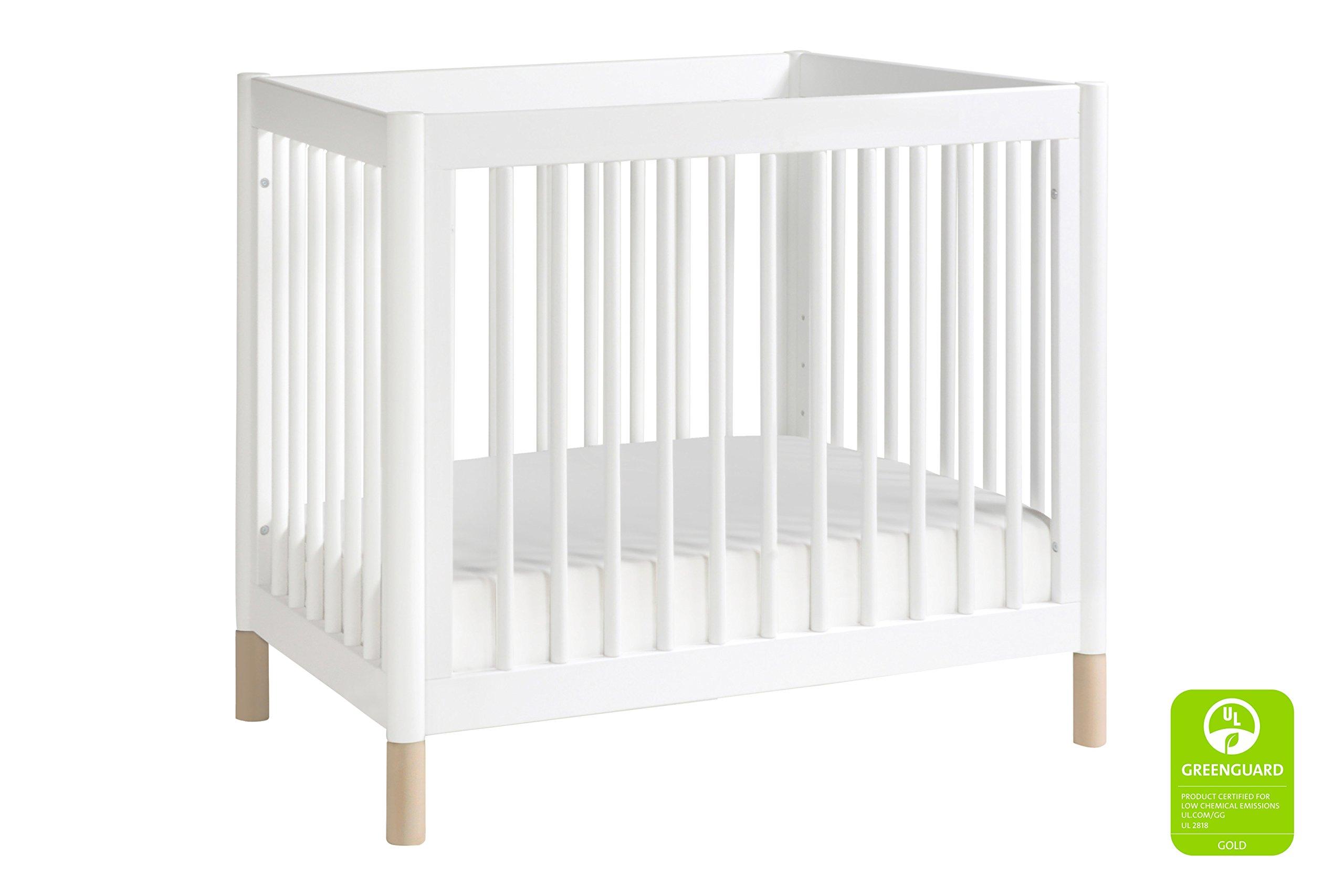 mini in baby crib orbelle portable two alpha davinci rocking level origami raw white tian