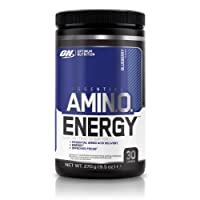 Optimum Nutrition Amino Energy Preworkout Energy Performance Supplement with Beta Alanine, Caffeine, Amino Acids and Vitamin C. Performance Supplement by ON - Blueberry 30 Servings, 270g