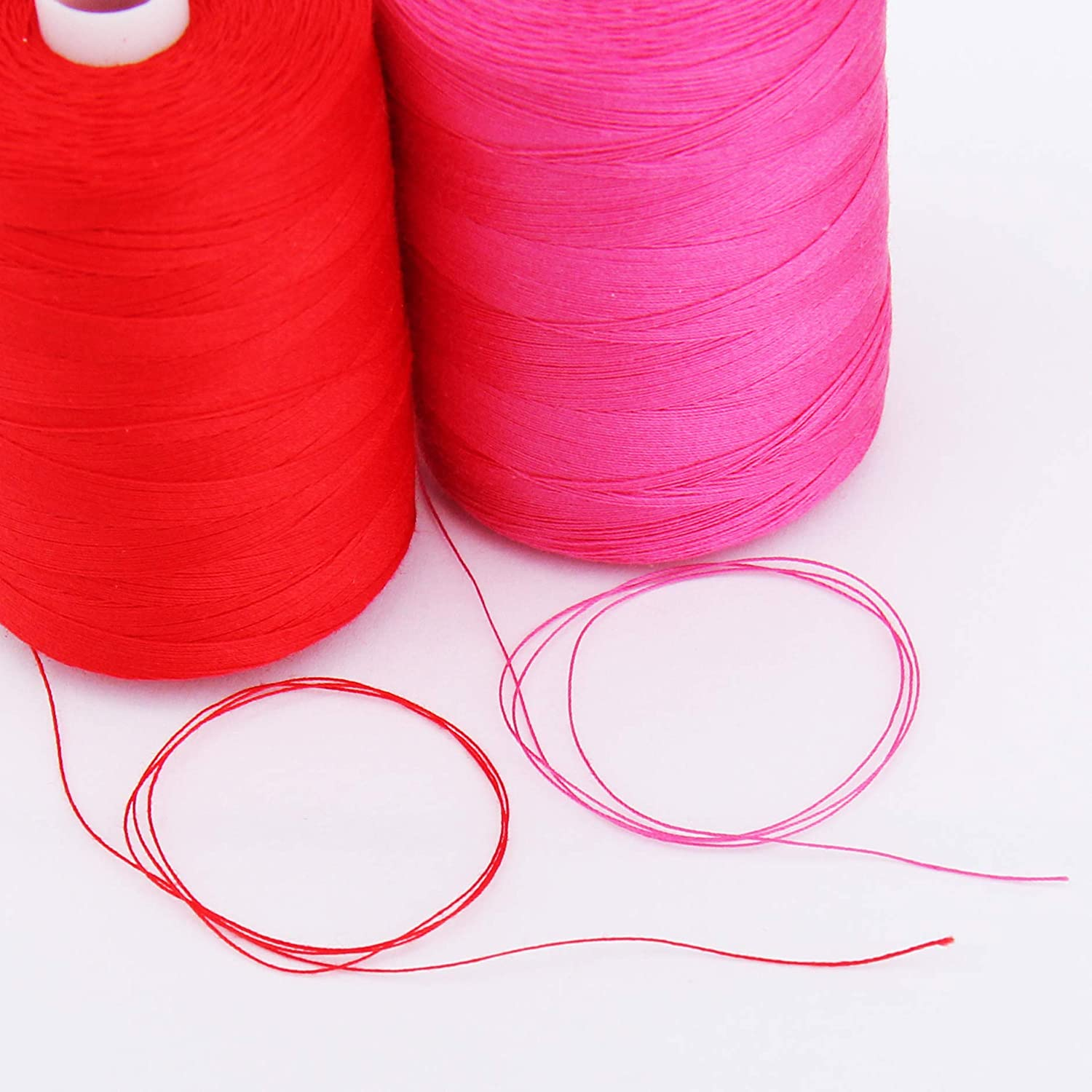 1000M Spools 50//3 Weight Threadart 100/% Cotton Thread and Serging For Quilting Color RED 50 Colors Available Sewing