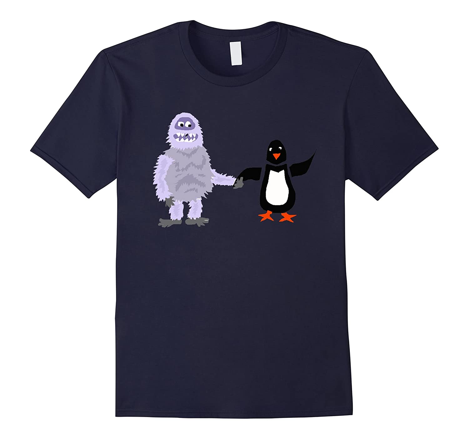 Smiletodaytees Abominable Snowman and Penguin T-shirt-RT