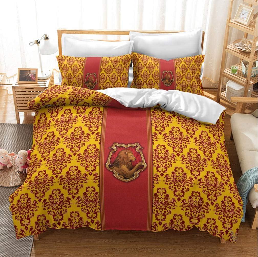 Impression 3D Animal d/écoratif 3 Ensemble Literie Piece avec 2 Pillow Shams,5,King 240x220cm UMOOIN Harry Potter Housse de Couette